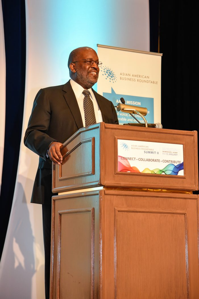 Making the Keynote address at the Asian American Business Roundtable Summit was Bernard J. Tyson, Chairman and CEO of Kaiser Permanente. Mr. Tyson delivered a profound and authentic message about his company and the economy and how the New Majority must work together