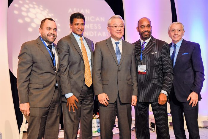 How Three Ethnic Groups Build Sustainable Parnerships for future collaboration - this panel discussion included Dr. Dario A. Cortes (Pictured Far Right) Senior Vice President , Strategic Alliance of Berkeley College; (L-to-R) Josè Calderòn, President of the Hispanic Federation, Kamesh Nagarajan, Senior Vice President, Financial Advisor of Morgan Stanley Wealth Management; Fred S. Teng, President of the America China Public Affairs Institute and Michael J. Garner, President of One Hundred Black Men, Inc. (Traci Coulter photos)