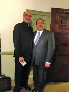 Rev. Dr. William S. Epps, pastor of Second Baptist Church, and Rev. Dr. Michael Dyson. (Dr. Liza Scruggs photo)