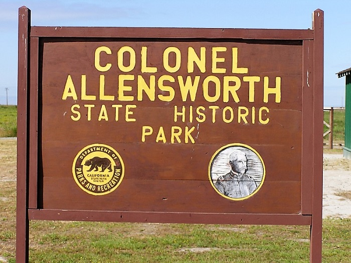 Colonel Allensworth State Historic Park was named in honor of retired military chaplain Allen Allensworth, inset. The park is located on land purchased by four black men in the southern San Joaquin Valley in 1908. The area was the first town in California that was founded, financed and governed by African Americans. Photos Courtesy of www.parks.ca.gov