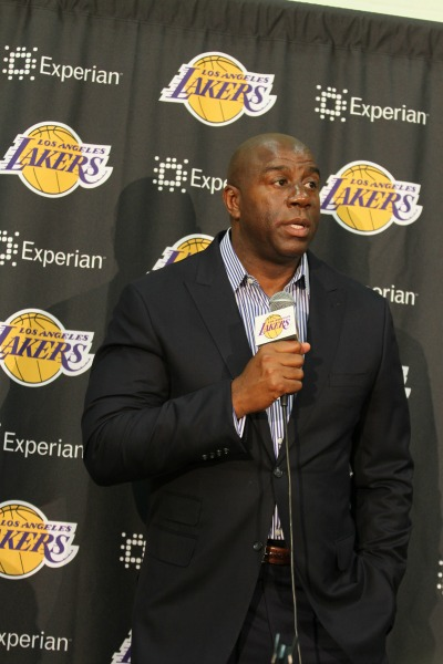 "Earvin ""Magic"" Johnson is a three-time League MVP and NBA Finals MVP. (AP File)"