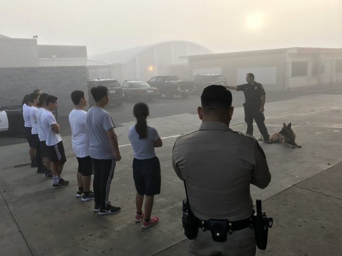 Officer Gonzalez and his dog Maxxo, provide a demonstration during Academy for the Day at Hawthorne High School.(courtesy photo)