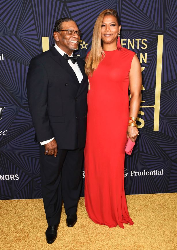 Queen Latifah pictured with her father on the gold carpet, receives ABFF Honors Award for Entertainment Icon. (courtesy of BET)