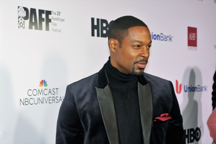 Actor Darrin Henson makes an appearance at opening night of the Pan African Film Festival held at the Director's Guild of America in Los Angeles, CA. Courtesy of PAFF