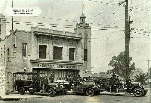 Company-30 - Historic photo of Fire Station Engine No. 30, circa 1947 (Courtesy of AAFFM)