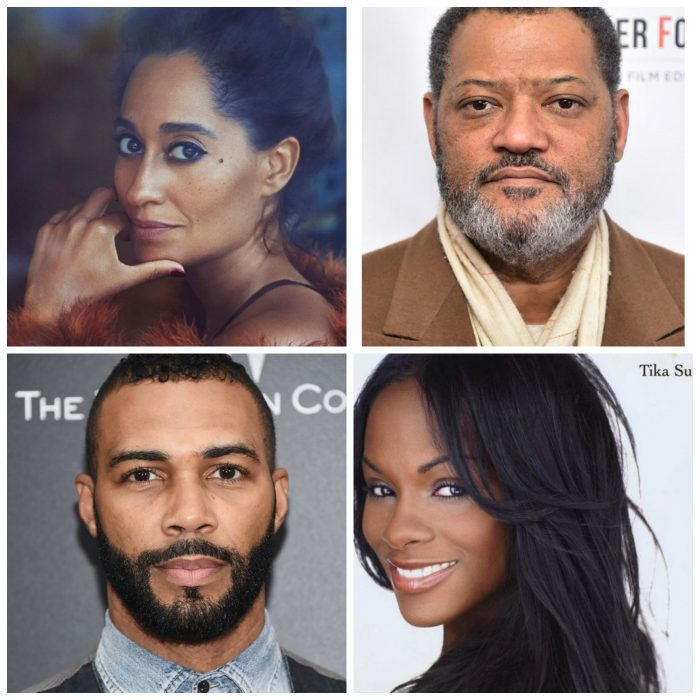 Top Row: Tracee Ellis Ross and Laurence Fishburne. Bottom Row: Omari Hardwick and Tika Sumpter