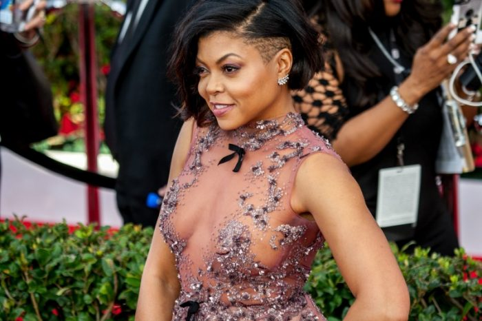 Taraji P. Henson wins for Outstanding Performance by a Cast in a Motion Picture at 23rd Annual SAG Awards (Photo by Robert Torrence)