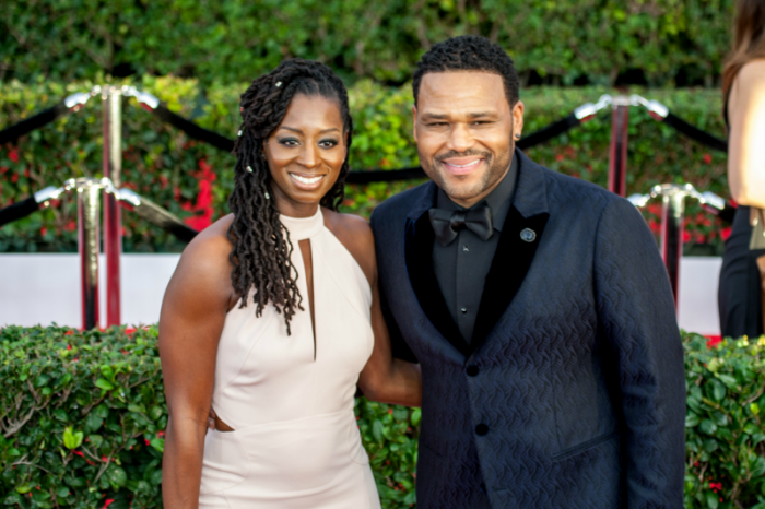 Anthony Anderson and wife Alvina Stewart pictured at 23rd Annual SAG Awards (Photo by Robert Torrence)
