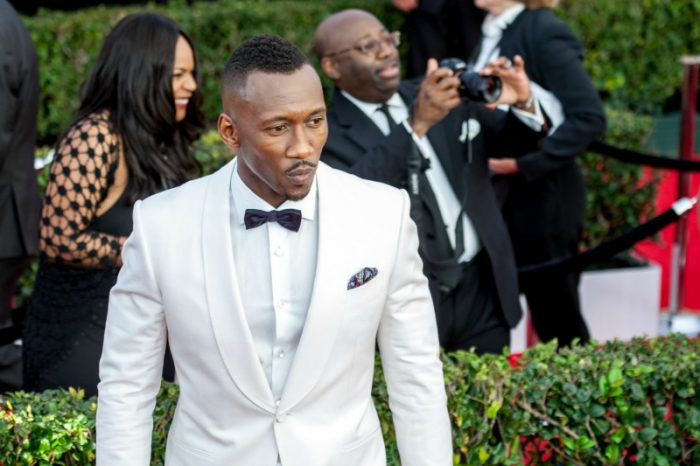 Mahershala Ali donning Dior, takes home the win for Outstanding Performance by a Male Actor in a Supporting Role at the 23rd Annual SAG Awards (Photo by Robert Torrence)