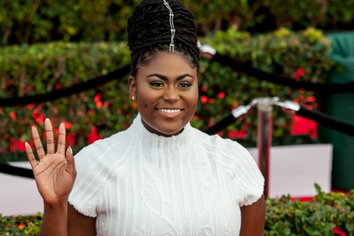 Orange is the New Black's Danielle Brooks shows up in all white at the 23rd Annual SAG Awards Ceremony (Photo by Robert Torrence)