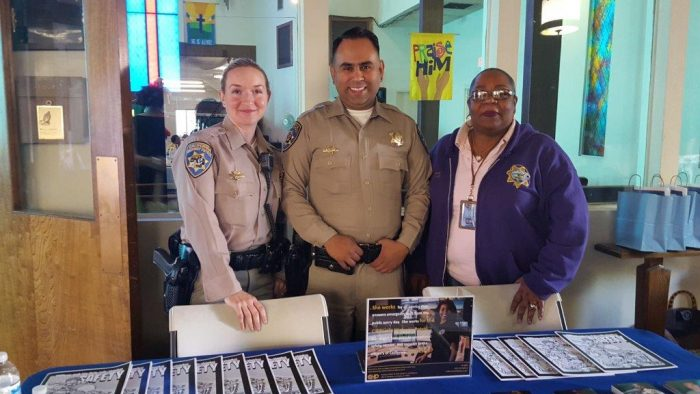 Officer Trish Ibarra, Officer Ez Padilla and Public Safety Dispatcher Cynthia Baymon.(courtesy photo)