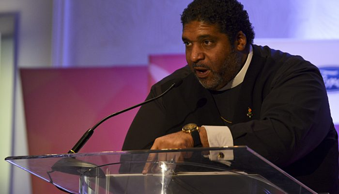 Reverend William Barber II, president of the North Carolina state chapter of the NAACP, delivered an electrifying speech during the 2017 NNPA Mid-Winter Conference in Fort Lauderdale, Fla. (Freddie Allen/AMG/NNPA)