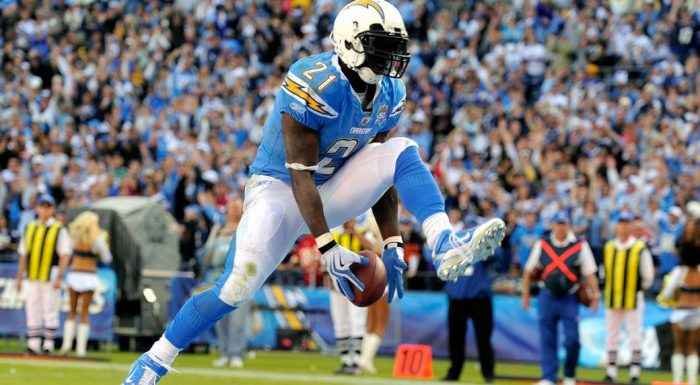 Hall of Famer LaDainian Tomlinson became the first player to rush for 1,000 yards and catch 100 passes. (Chris Carlson/AP)