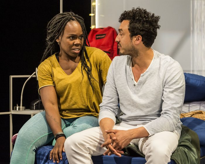 """L-R: Ngozi Anyanwu and Wade Allain-Marcus and the world premiere of """"Good Grief.""""(Photo by Craig Schwartz)"""