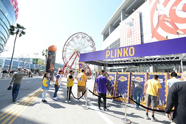 Lakers fans enjoy the carnival games at Shaqtown (STAPLES Center/Bernstein & Associates)