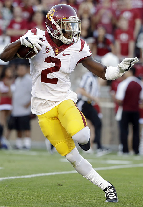 Southern California defensive back Adoree' Jackson (2) during an NCAA college football game against Stanford Saturday, Sept. 17, 2016, in Stanford, Calif. (AP Photo/Marcio Jose Sanchez)