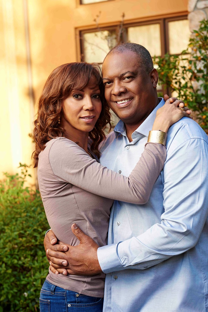 """Holly says """"State of the Marriage"""" meetings help keep the spark alive with her husband Rodney Peete, former NFL quarterback of 22 years."""