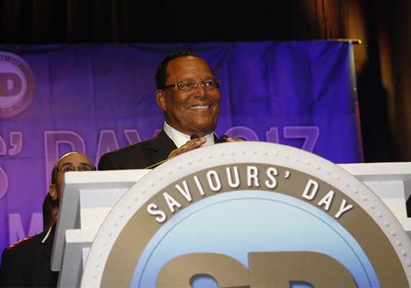 Minister Louis Farrakhan (Photo by Lens of Ansar)