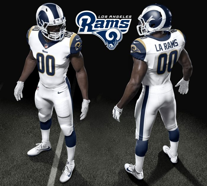 L.A. Rams new uniforms (Courtesy of the Los Angeles Rams)