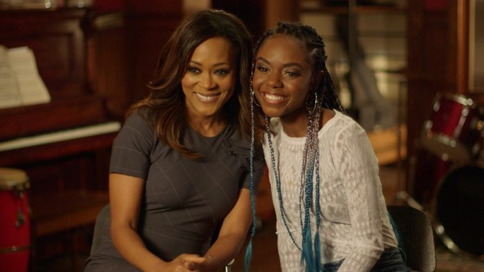 "Robin Givens (left) as Mayor Sierra McCoy and Ashleigh Murray as Josie McCoy on set of their CW series, ""Rivderdale"" (courtesy photo)"