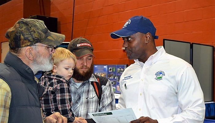 AGDAY U.S. Department of Agriculture's USDA National Agricultural Statistics Service (NASS) Northeastern Regional Field Office Director King Whetstone, (right) meets with attendees on Jan. 15, 2016 at the 2016 Pennsylvania Farm Show, the largest indoor agricultural exposition in the U.S. (USDA)