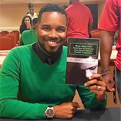 """Allen E. Lipscomb is the author of the 2016 book """"Black Male Grief Reaction to Trauma: A Clinical Case Study of One Man's Mental Health Treatment."""" (Allen E. Lipscomb)"""