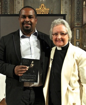 "Rev. Dr. Guibord, right, and Joshua DuBois, author of ""The President's Devotional."""