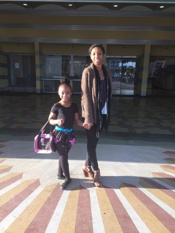 Genell Price and PDP's Star StudentSanai Victoriain front of The Vision Theatre (courtesy photo)