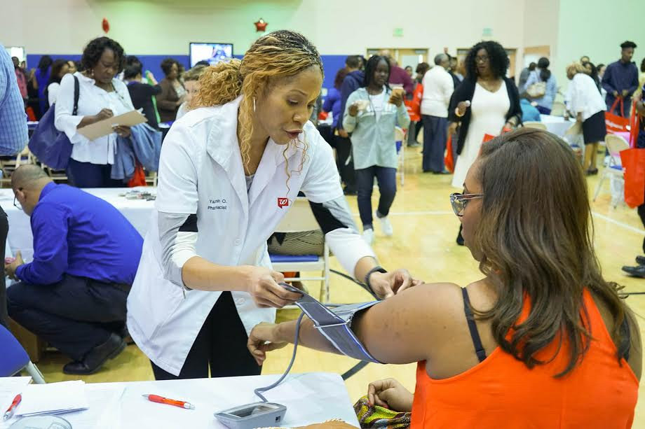 Crenshaw Christian Center members received free blood press screenings at the First Ladies Health Day on March 26.