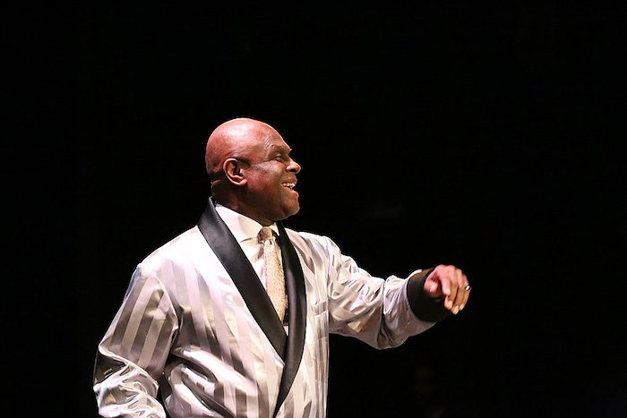 Colyar in character as he smiles for the audience. (Photo Courtesy of Michael Colyar)