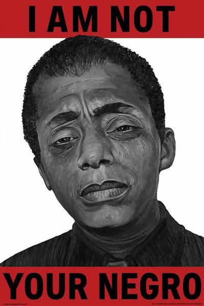 James Baldwin by Robbie Conal. (Courtesy Photo)