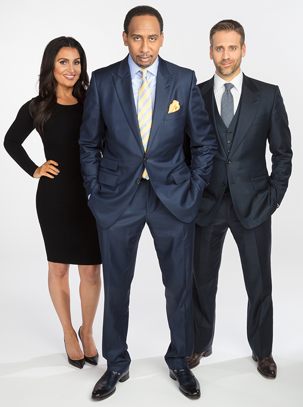 Bristol, CT - October 4, 2016 - Photo Studio: Portrait of Molly Qerim, Stephen A. Smith and Max Kellerman (Photo by Chris Beauchamp / ESPN Images)