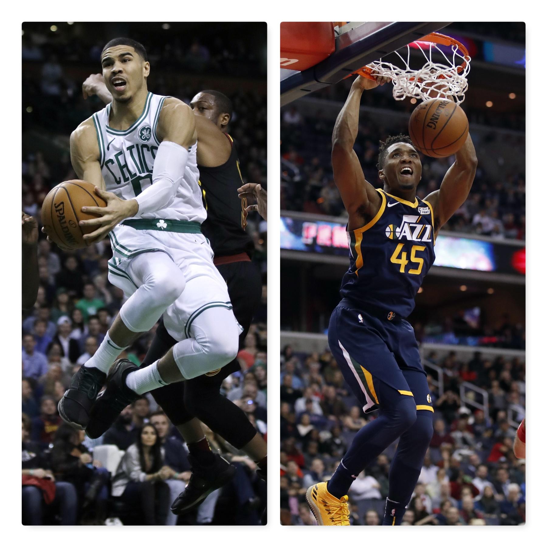 Boston's Tatum And Utah's Mitchell Named Kia NBA Rookies
