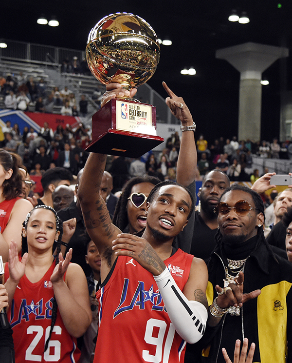 NBA Celebrity Game 2018 Headlined by Quavo and Justin Bieber - Los ... e629a14fb