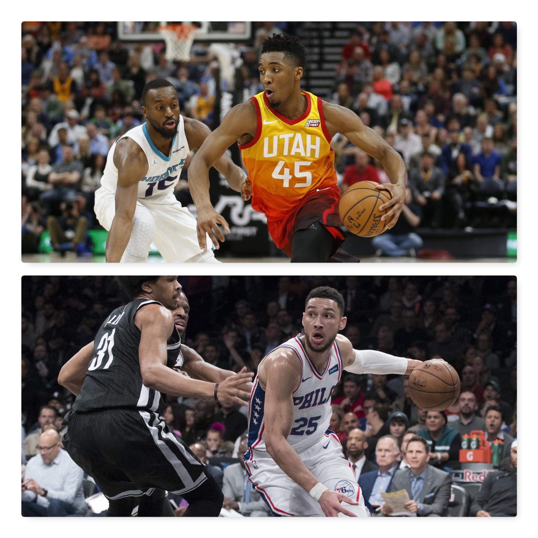 Philadelphia's Simmons And Utah's Mitchell Named Kia NBA