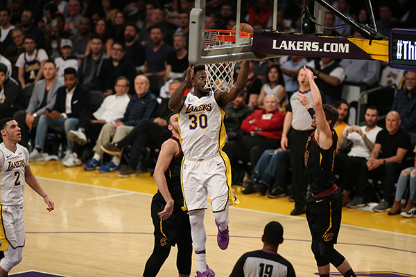8999fd1288a3 Los Angeles Lakers forward Julius Randle (30) layup a shot during the Cleveland  Cavaliers vs Los Angeles Lakers at Staples Center on March 11