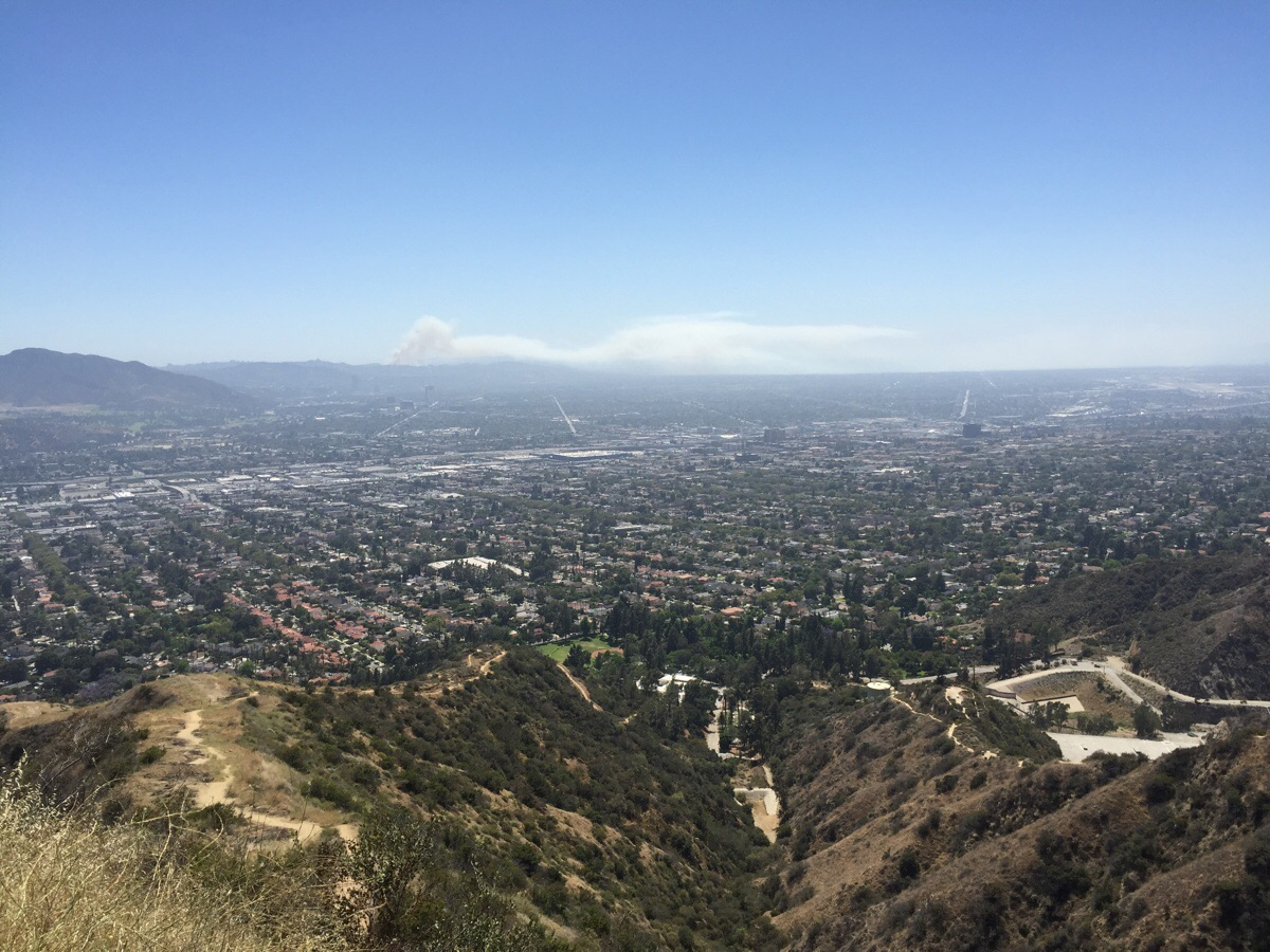 Beverly Crest Fire from Glendale Hills - Los Angeles