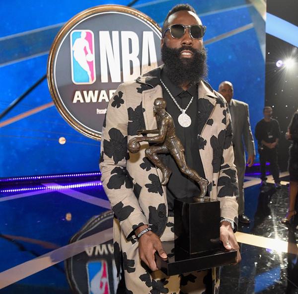 0aa6fa32fac James Harden Named MVP at 2018 NBA Awards - Los Angeles Sentinel ...