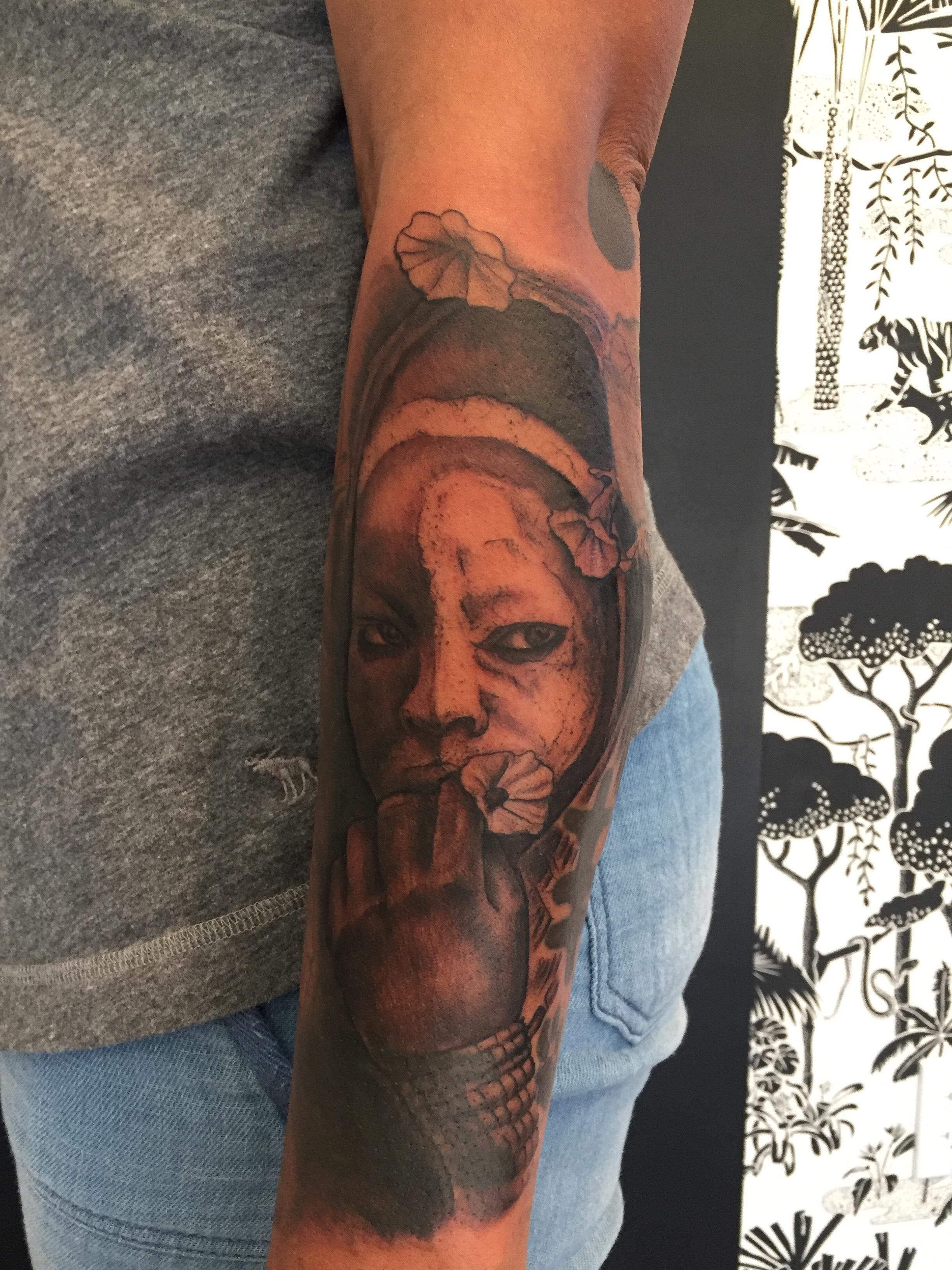 5cc51d3f9 (Courtesy Photo). Morton: Why might tattoo artists struggle on tattooing  dark skin?