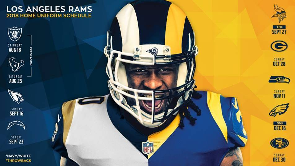 Los Angeles Rams Announce Uniform Updates - Los Angeles Sentinel ... 94eacb2b3eb