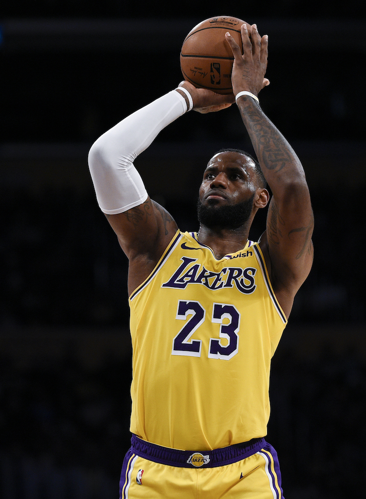 dbea015f Los Angeles Lakers forward LeBron James attempts a free throw during the  first half of an NBA preseason basketball game against the Sacramento Kings  in Los ...