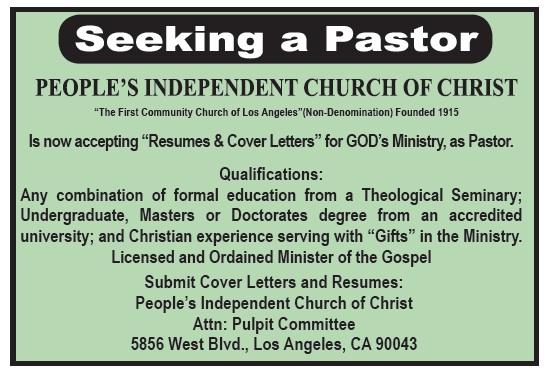 Call 2 Worship - November 15 - Los Angeles Sentinel   Los