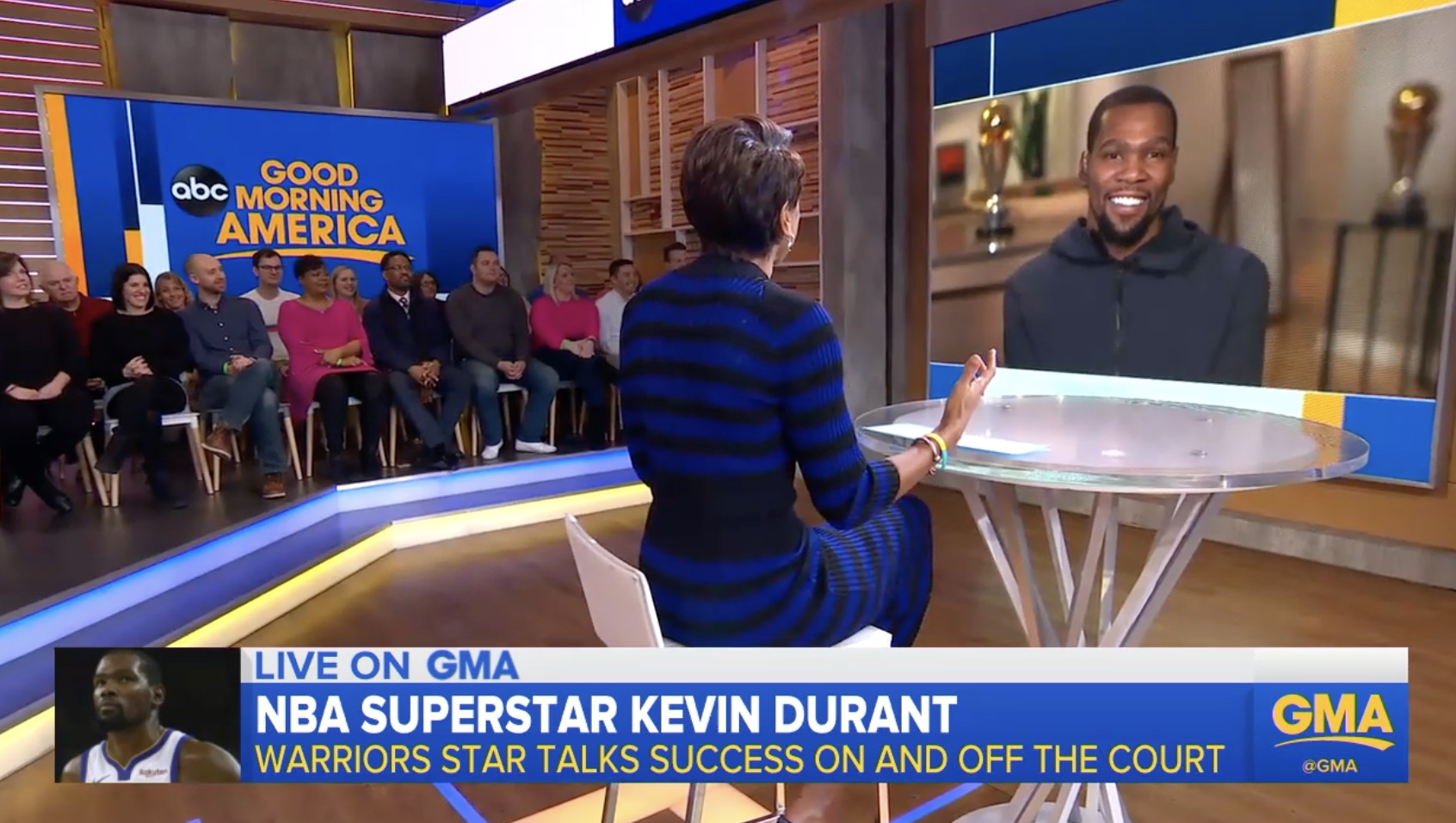 WATCH: Kevin Durant Opens Up About his New ESPN Series, College Program and Championships