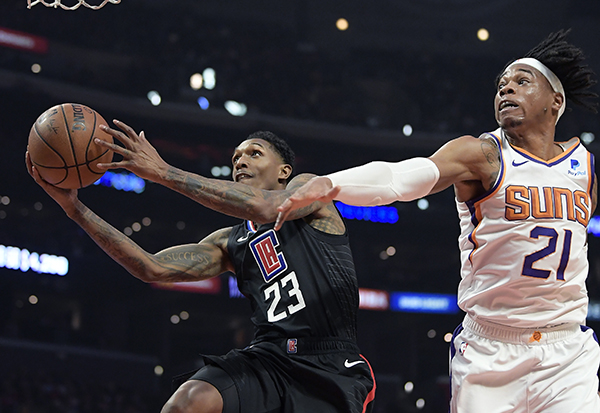 Clippers route Suns; 134-107, holding onto 8th place in standings