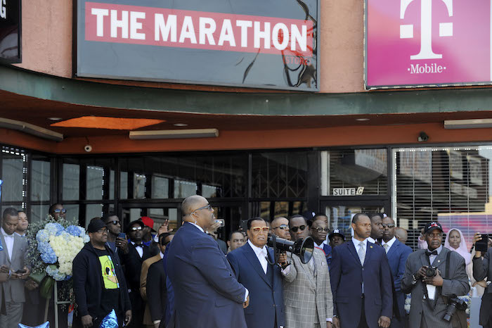 Farrakhan pays respect to life of Nipsey Hussle at vigil in South L.A.