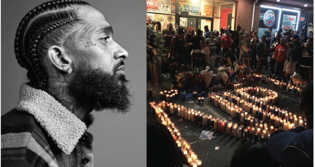 de3899973767a5 Rapper entrepreneur Nipsey Hussle (Courtesy Photo) A peaceful vigil is set  in front of THE MARATHON CLOTHING store
