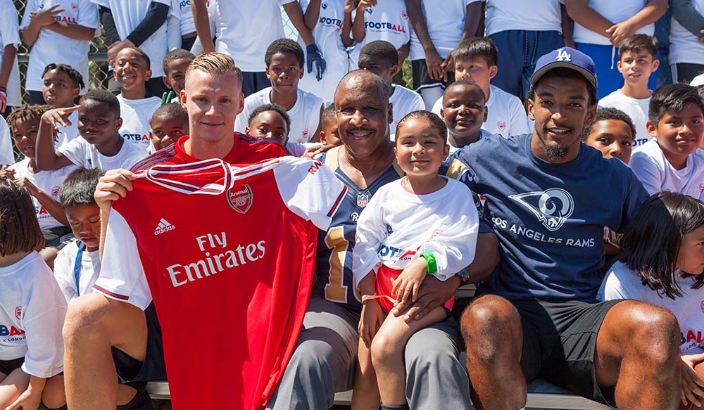 sports shoes eab74 8eef2 The L.A. Rams and Arsenal F.C. Unite to Host Multisport ...