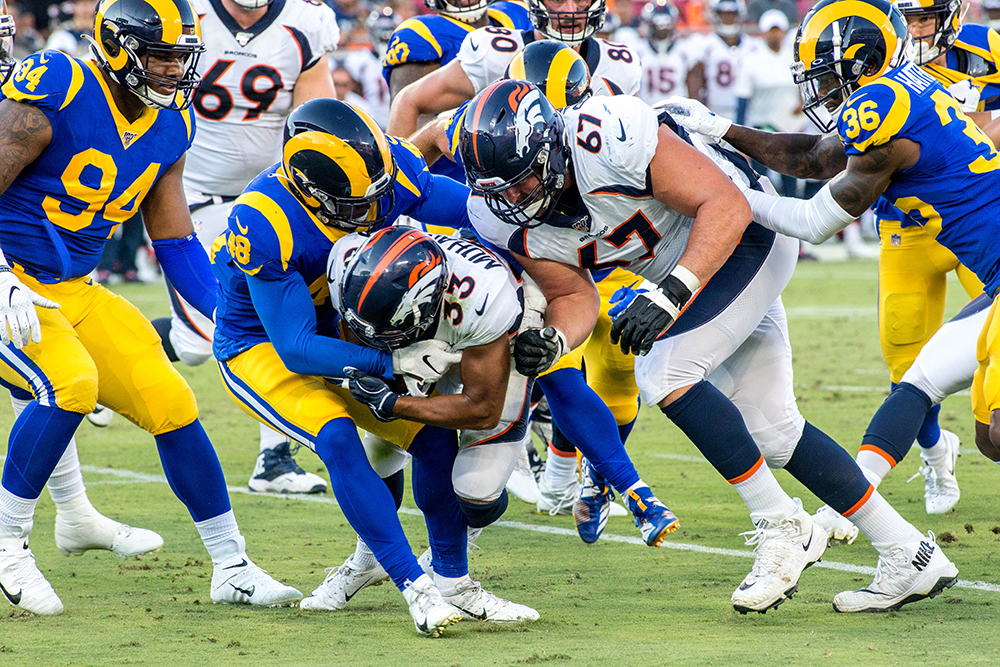 cheap for discount aa7e6 a9ac6 Rams defeat Broncos In First Preseason Win - Los Angeles ...