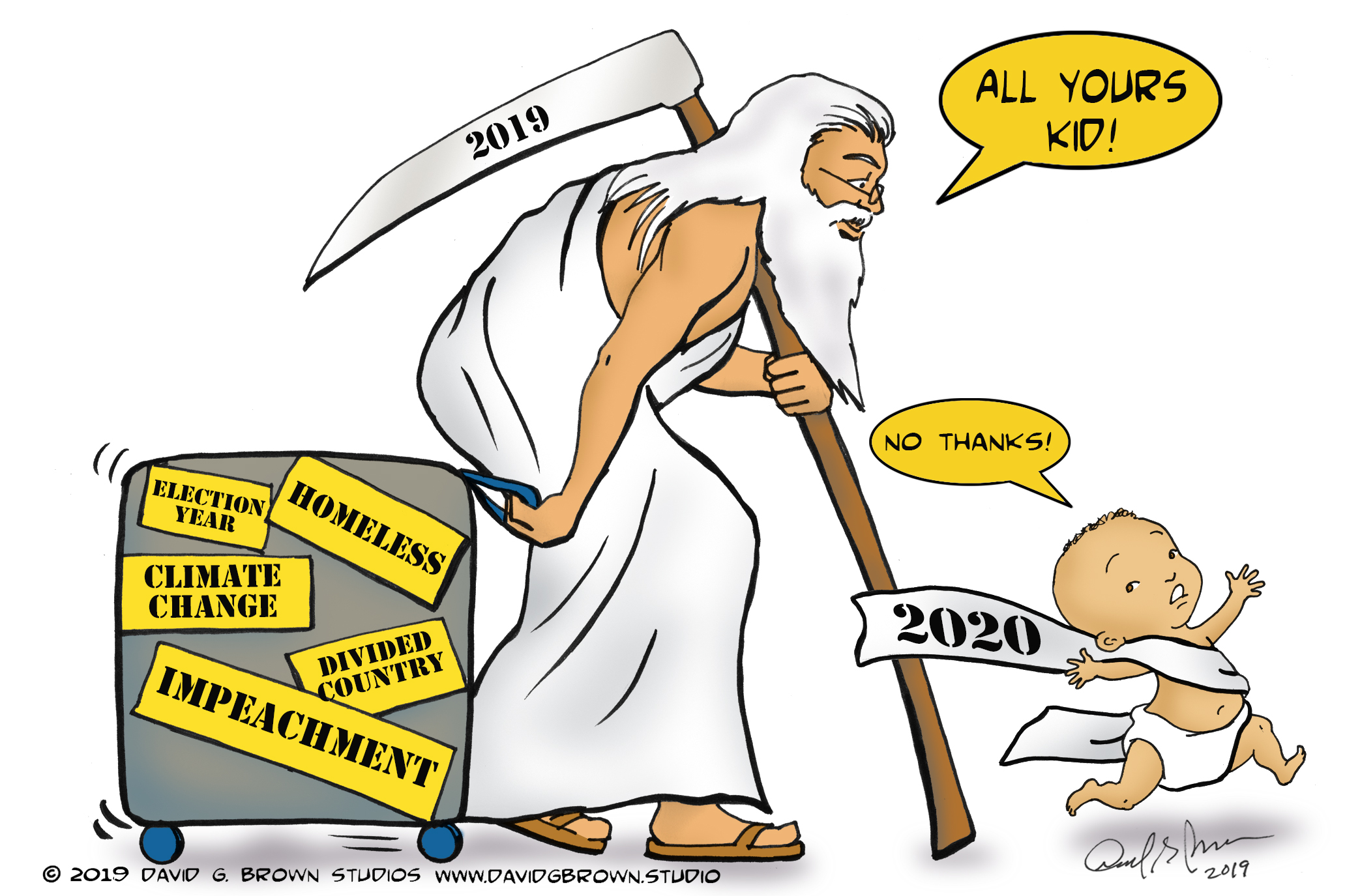 David G. Brown Cartoon: January 2, 2020 - Los Angeles Sentinel | Los  Angeles Sentinel | Black News