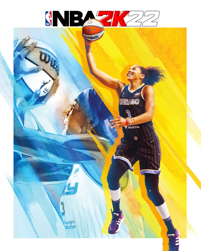 Candace Parker on NBA2K22 Cover